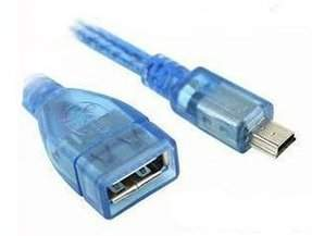 Адаптер компьютерный USB female A to miniUSB 5pin male B OTG для планшета
