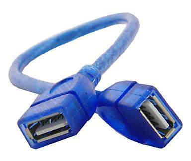 Дата-кабель USB USB female - USB female 1m