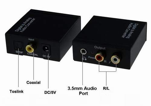 Адаптер Digital to Analog Audio Converter Оптика - RCA + 3.5 out
